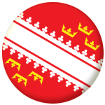 Alsace Province Flag 58mm Button Badge